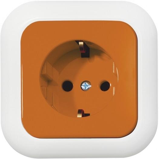 OPUS® 1 Schutzkontakt-Steckdose mit Steckklemmen