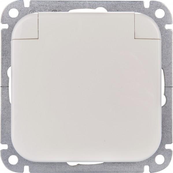 OPUS® 1 Schutzkontakt-Steckdose mit Feder-Klappdeckel