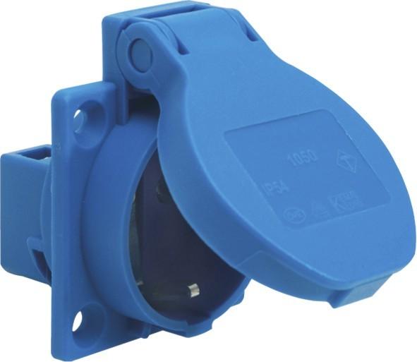 SIROX® Schutzkontakt-Einbau-Steckdosen IP 54 blau