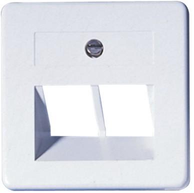 OPUS® 1 Abdeckung für ISDN/DATEN-Anschlussdosen 2-fach