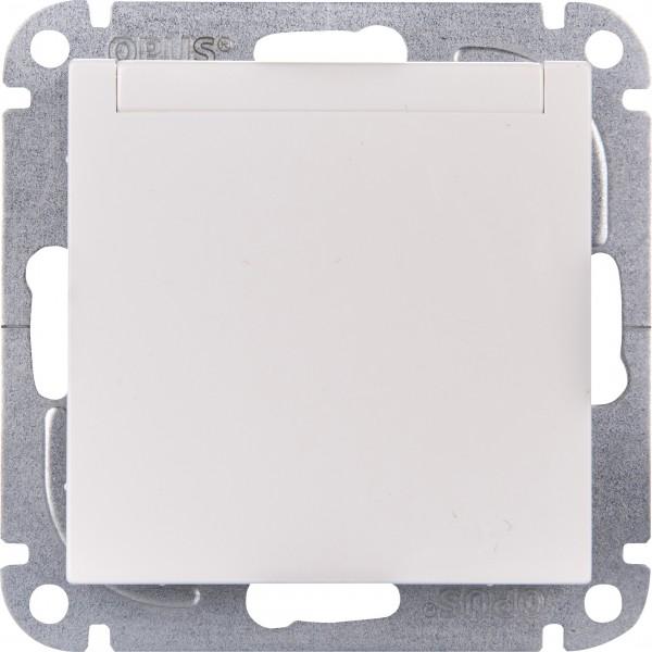 OPUS® 55 Schutzkontakt-Steckdose mit Feder-Klappdeckel ohne Berührungsschutz
