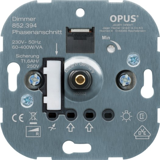 OPUS® Dreh-Glühlampen-Dimmer mit Steckklemmen
