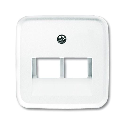 BUSCH-JAEGER Abdeckungen Kommunikationseinsätze SI/Reflex UAE 2-fach alpinweiß