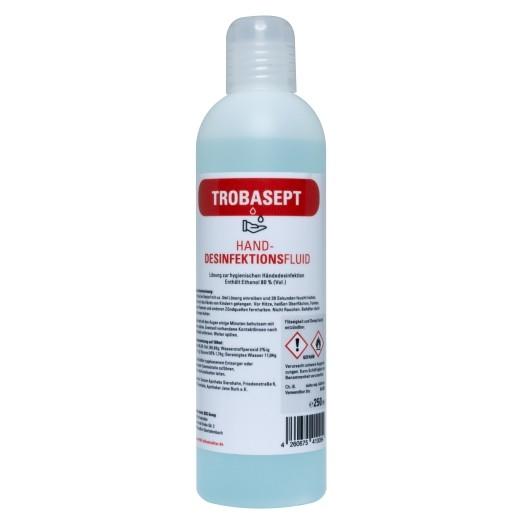 TROBASEPT-Handdesinfektionsmittel   80% Ethanol   Made in Germany   Bekämpft effektiv Bakterien und