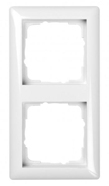 GIRA Rahmen 2-fach System 55 reinweiß glänzend