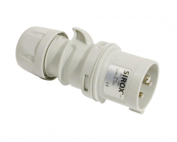 SIROX® CEE-Stecker IP 44, 3-polig, 1 h 16 A, mit vernickelten Kontakten