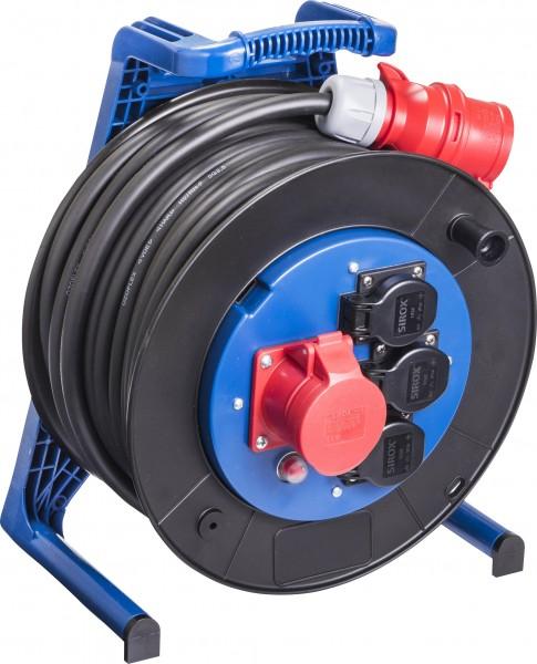 JUMBO® L CEE-Kabeltrommel 400 V mit 3 Steckdosen H07RN-F