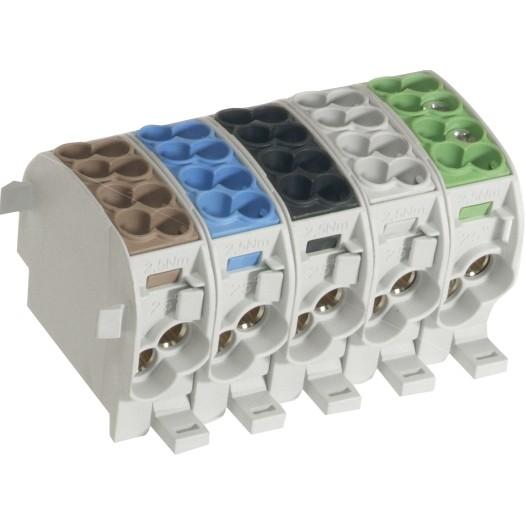 Hauptleitungs-Abzweigklemmen 25/35 mm² - N/PE farblich