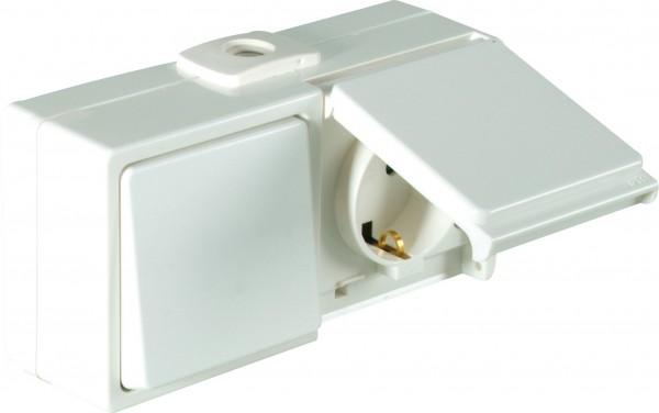 OPUS® AQUA Schalter mit Steckdose, waagerecht