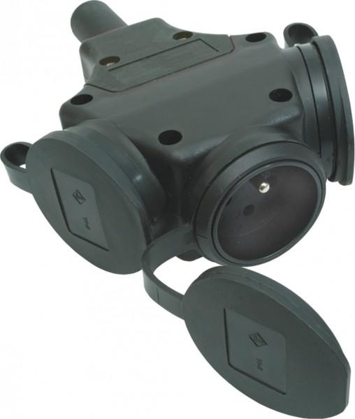 SIROX® XL Vollgummi-3-fach-Hängekupplung mit Deckel am Band belg./franz. Ausführung
