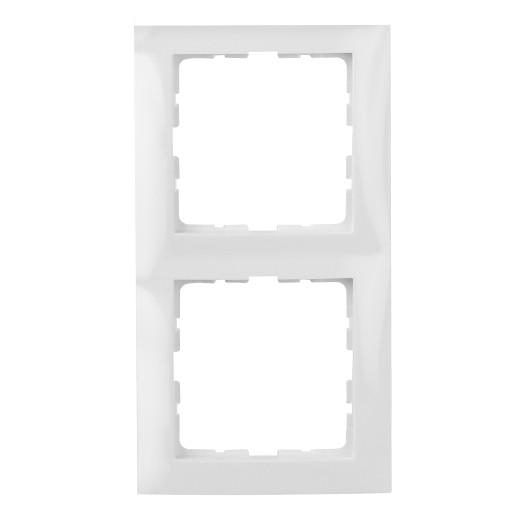 Berker Rahmen S.1 2-fach polarweiß