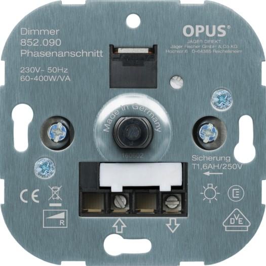 OPUS® Dreh-Glühlampen-Dimmer mit Schraubklemmen