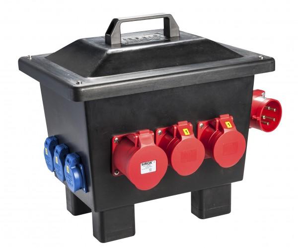 """SIROX® Kunststoff-Standverteiler """"KORBACH"""" mit FI-Schalter"""