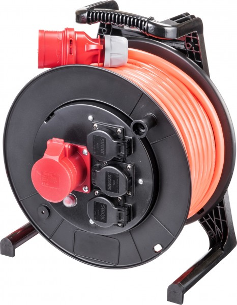 JUMBO® L CEE-Kabeltrommel 400 V mit 3 Steckdosen H07BQ-F