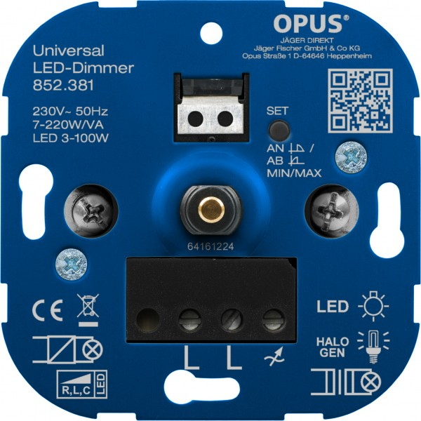 OPUS® Universal-Dimmer für LED-, Glüh- und Halogenlampen