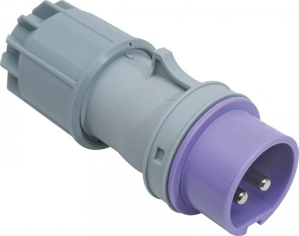 SIROX® CEE-Stecker IP 44, 2-polig, 24 V 16 A, mit vernickelten Kontakten