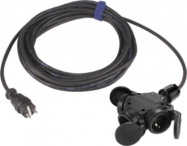 SIROX® Verlängerung H07RN-F mit 3-fach Kupplung und Federklappdeckel