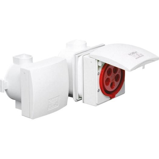 SIROX® CEE-Unterputzsteckdose IP 44, 5-polig, 400 V, 6 h