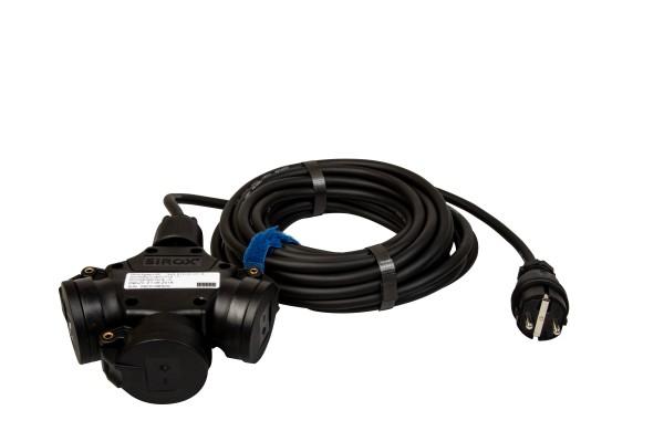SIROX® Verlängerung H07RN-F mit 3-fach Kupplung und Spannunganzeige