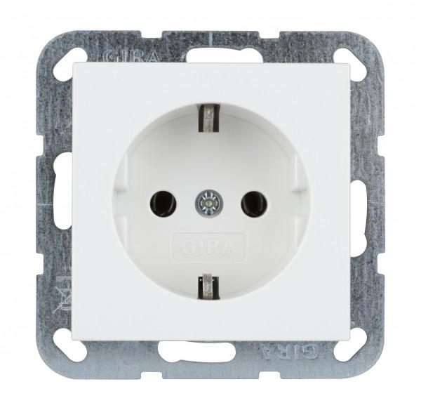 GIRA Schutzkontakt-Steckdose System 55 reinweiß glänzend