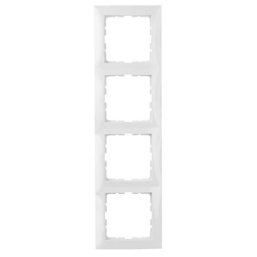 Berker Rahmen S.1 4-fach polarweiß