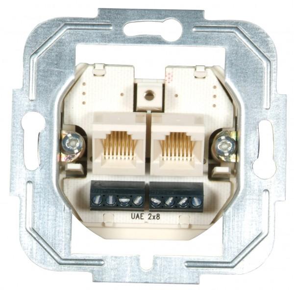 Modular- /ISDN-Anschlussdose 2-fach