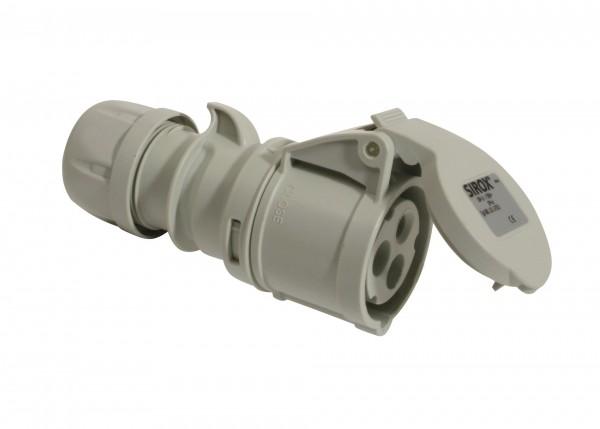 SIROX® CEE-Kupplung IP 44, 3-polig, 1 h 16 A, mit vernickelten Kontakten