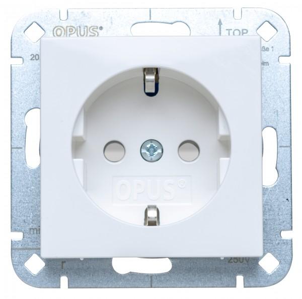 OPUS® 55 Schutzkontakt-Steckdose premium mit Berührungsschutz