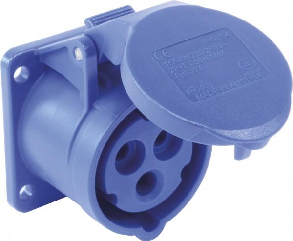 SIROX® CEE-Anbaudose IP 44, 3-polig, 230 V, 6 h, gerade