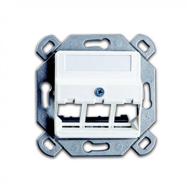 OPUS® 55 Tragplatte mit Zentralplatte für RJ 45-Module