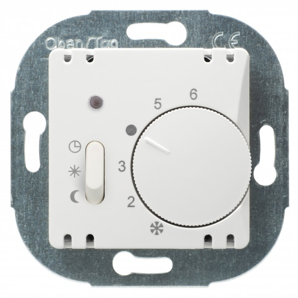 OPUS® 1 Raumtemperaturregler, Öffner, mit Handschalter, Absenkung / EIN / AUS