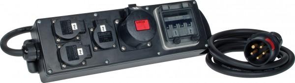 """SIROX® Plug & Music """"Vollgummiverteiler"""" mit FI-Schalter"""