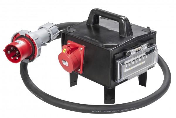 SIROX® CEE-Vollgummi-Adapterbox mit CEE-Stecker 63 A