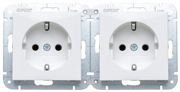 OPUS® 55 Quick Schutzkontakt-Steckdose Premium ohne Berührungsschutz polarweiß-seidenglanz