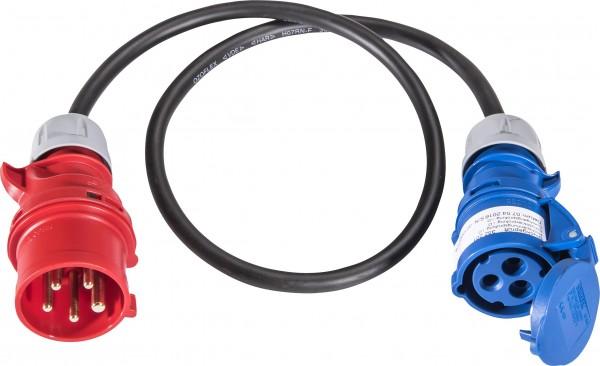 SIROX® Adapterleitung CEE 5-polig - CEE 3-polig 16 A 3 x 2,5 mm² 1 m