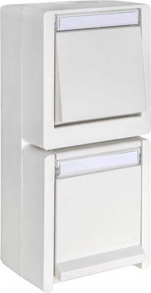 OPUS® RESIST Schalter/Taster mit Steckdose, senkrecht