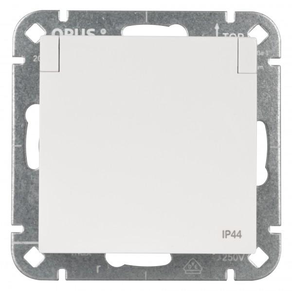OPUS® 55 Schutzkontakt-Steckdose premium mit Klappdeckel IP 44 und erhöhtem Berührungsschutz