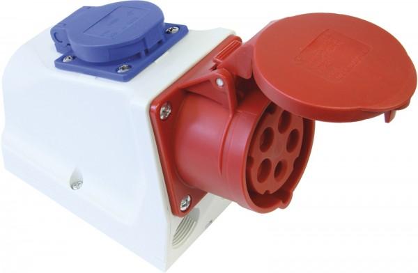 SIROX® CEE-Kombi-Wanddose IP 44, 5-polig, 400 V, 6 h