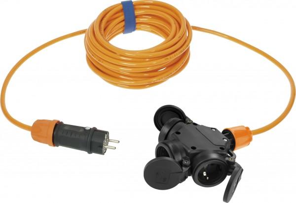 SIROX® Verlängerung H07BQ-F mit 3-fach Kupplung und Federklappdeckel