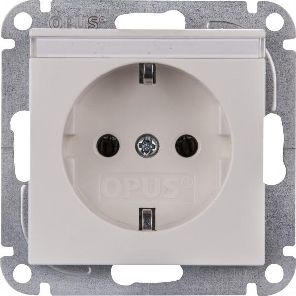 OPUS® 55 Schutzkontakt-Steckdose mit Beschriftungsfeld