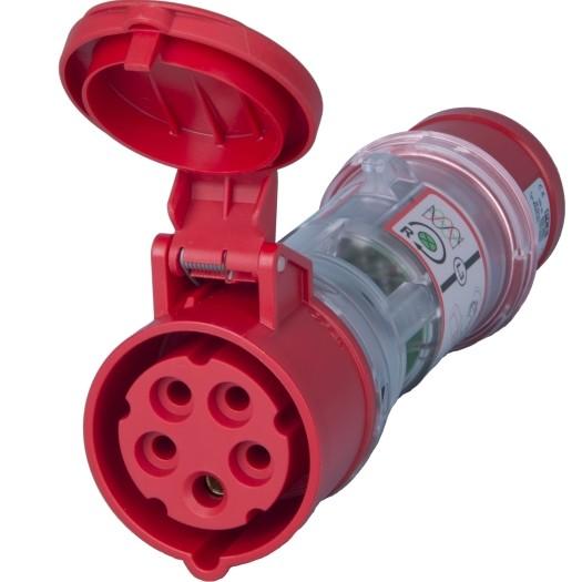 CEE-Strommessstecker IP 44, 5-polig, 6 h 400 V
