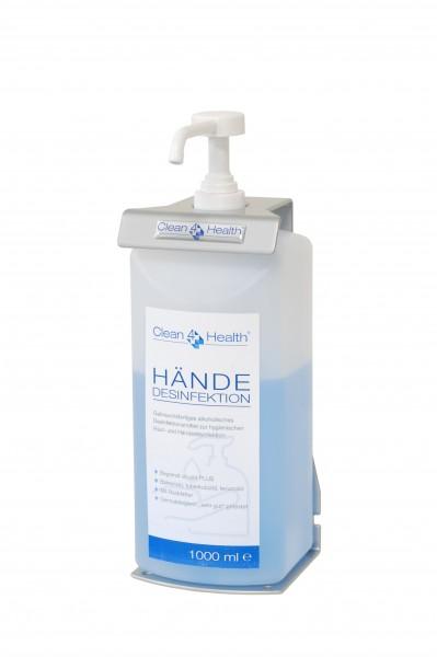 Clean-4-Health BASIC.1T Desinfektionsmittelhalter inkl. 1.000 ml Handdesinfektionsmittel (9590.BASIC