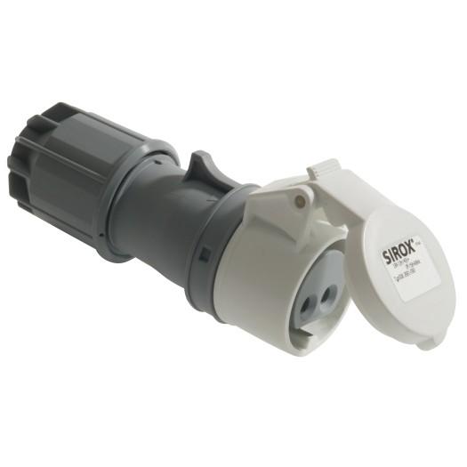 SIROX® CEE-Kupplung IP 44, 2-polig, 42 V 16 A, mit vernickelten Kontakten