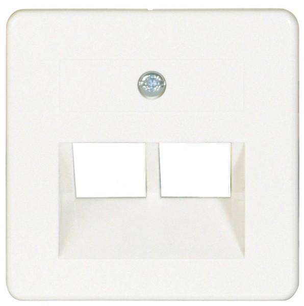 OPUS® 55 Abdeckung für ISDN/DATEN-Anschlussdosen 2-fach